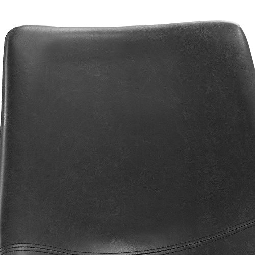 WE Furniture Black Faux Leather Dining Chairs, Set of 2 by WE Furniture (Image #3)