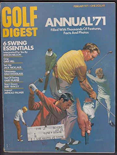GOLF DIGEST Byron Nelson Jack Nicklaus Gary Player Arnold Palmer 2 1971