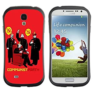 Hybrid Anti-Shock Bumper Case for Samsung Galaxy S4 / Communism Party