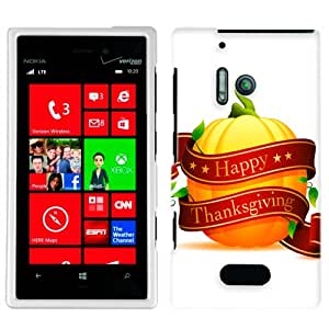 Nokia Lumia 928 Happy Thanksgiving Pumpkin Phone Case Cover
