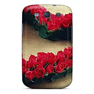 Premium Durable Roses Heart Fashion Tpu Galaxy S3 Protective Case Cover