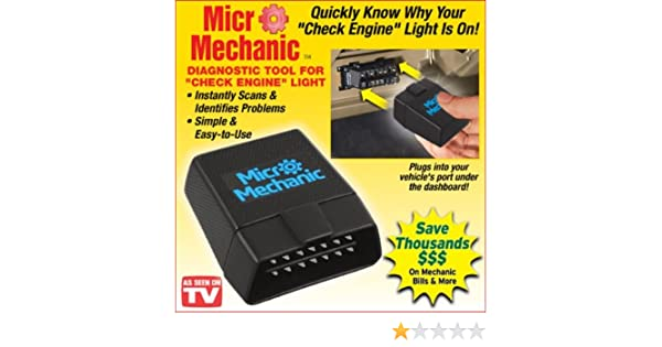 Amazon.com: Micro Mechanic AUTO CAR Diagnostic Tool Works with Smart Phone APP: Health & Personal Care