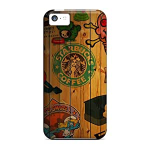 Tpu APTucker Shockproof Scratcheproof Starbucks Coffee Collage Hard Case Cover For Iphone 5c