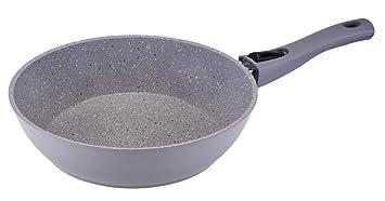 Sartén de Granito en gris, con aspecto culinario, recubrimiento de GRANITEC y
