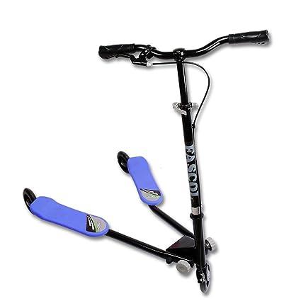 FASCOL® 3 in 1 Twist & Roll Patinete niños 3 ruedas 2 vías Scooter freestyle para niños con freno separado y 3-gear altura ajustable, Plegable / ...