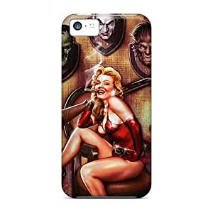 Hot Snap-on Halloween Pinup Monster Trophies Rifle Hard Cover Case/ Protective Case For Iphone 5cKimberly Kurzendoerfer