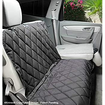 Image of 4Knines Dog Seat Cover with Hammock - 60/40 Split and Middle Seat Belt Capable - USA Based Company Pet Supplies