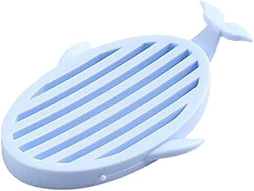 Wash Shower Bathroom Rabbit Shaped Plastic Double Layer Dish Soap Holder 2 PCS