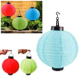 6 x Solar LED Chinese Paper Lanterns Party Round 10'' Garden Wedding Decoration