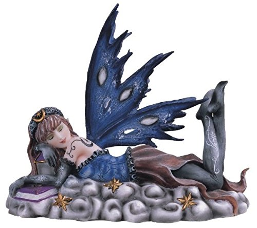 StealStreet SS-G-91471, Blue Sleeping Celestial Fairy Collectible Figurine Decoration Statue,