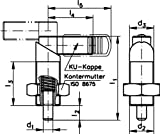 Index plunger 612, shape A-N M12 x 1,5 ø5mm