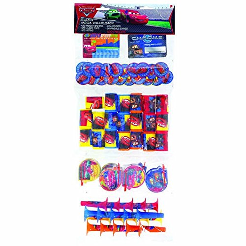 Amscan Fun Filled Disney Cars Super Mega Mix Value Set (Pack of 100), Multicolor, 24