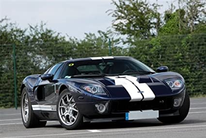 Ford Gt Black Right Front Hd Poster Super Car Jumbo  Inch Print
