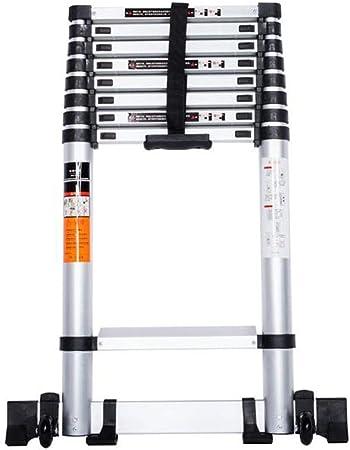 YTC Loft telescópica Escalera Plegable Profesional de Aluminio Escalera Plegable con el Mecanismo de Bloqueo de Resorte Cargado, la Carga máxima 330lb (Size : 5m/16.5ft): Amazon.es: Hogar
