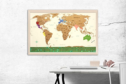 Amazon scratch off map of the world with us states outlined amazon scratch off map of the world with us states outlined large 345 x 205 country flags exclusive islands added scratch tool gumiabroncs Gallery