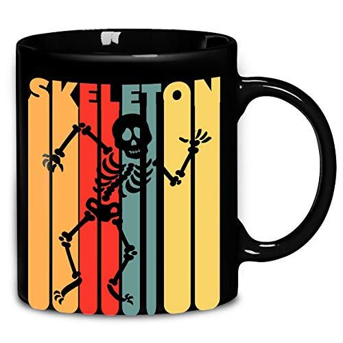 Skeleton Vintage Halloween T-Shirt Coffee Mug 11oz & 15oz Gift Tea Cups]()