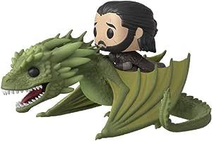 Oferta amazon: Funko Pop Rides: Game of Thrones-Jon Snow w/Rhaegal Figura Coleccionable, Multicolor (44448)