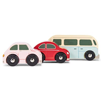 Le Toy Van Cars & Construction Collection Retro Metro Car Set Premium Wooden Toys for Kids Ages 3 Years & Up: Toys & Games