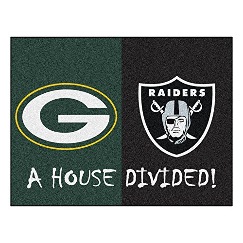 NFL House Divided - Packers/Raiders Rug, 34