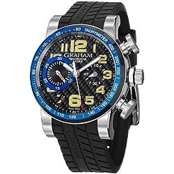 Graham Men's 2SAAC.B04A Silverstone Analog Display Swiss Automatic Black Watch