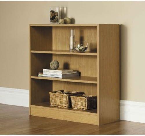 Orion Wide 3-Shelf Bookcase Oak