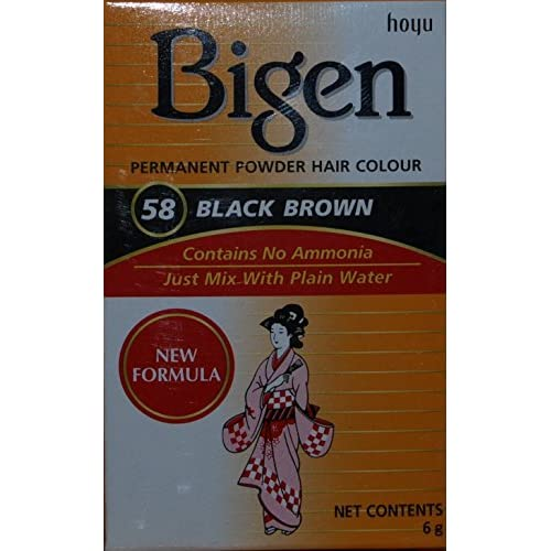 Bigen Hair Color 58 Black Brown 0 21 Oz By Bigen Free