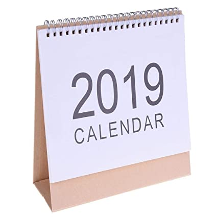 McDoo! 2019 Calendar Desktop Paper Calendar DIY Table Stand Agenda 2019 Planner Daily Scheduler, Vertical