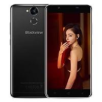 Smartphone 4G, Blackview P2 Lite Téléphone Portable Debloqué avec 6000mAh batterie 3 Go RAM + 32 Go ROM Camera Arrière 13MP, Smartphone Débloqué avec 5.5 '' FHD Ecran Android 7.0 et fonction OTG, Noir
