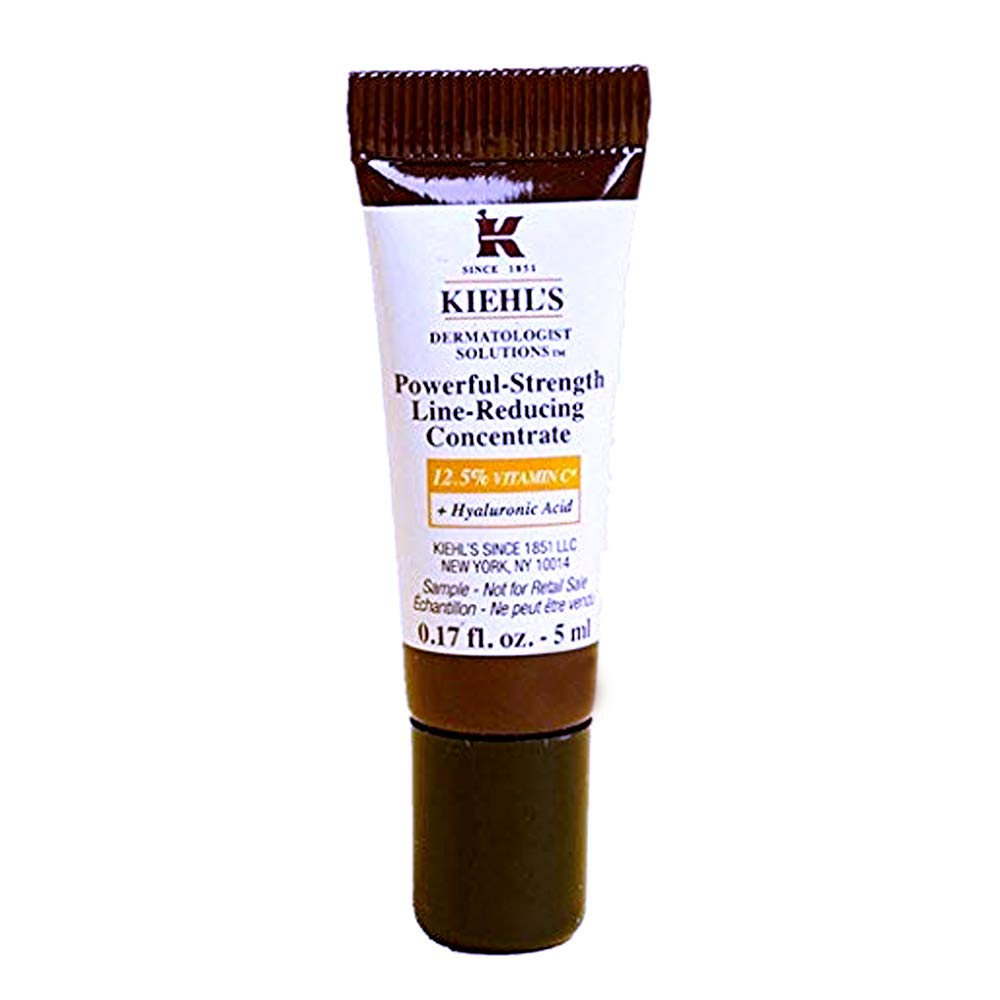 Kiehls Powerful Strength Line Reducing Concentrate Travel Size (No Box), 0.17 fl oz / 5 mL