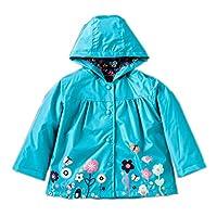 Little Girls Rain Wear Raincoat Waterproof Hooded Jacket Coat for Age 1-6