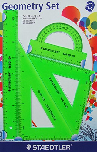 Staedtler Ruler Geometry Set (Green)