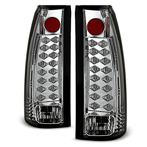 88-98 Chevy C/K Series Pickup Truck GMC Sierra Rear LED Tail Lights Brake Lamps Pair Replacement