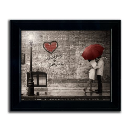 Street Scene   Personalized Wedding Gift Art Perfect For Anniversary    Deluxe Framed