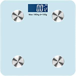 V-OPQ Digital Scale, Body Fat Bluetooth Scale Scientific Smart Electronic LED Digital Body Weight Scales,For Fat Bone Mass BMI,For Home (Color : Blue)