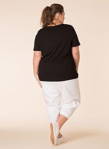 X Two Black Latricia Schlupfhose Freizeithose Hose Pants Damen Stretch Plusgröße