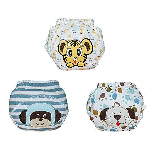 Babyfriend 3PCS New Cute Soft Cotton Baby Potty Training Pants Washable Learning Pants