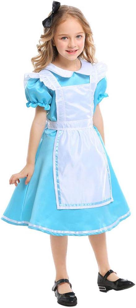 QYS Vestido de mucama de Halloween para niña Disfraces de Alicia ...