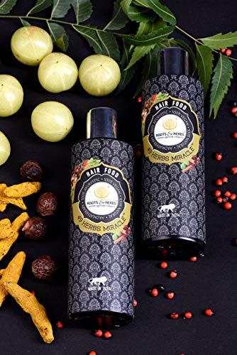 Roots & Herbs Ayurvedic Natural Treatment 100% Vegan No Paraben 49 Herbs Miracle Hair Food Moisturizing Oil - 200 ml