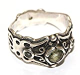 Moldavite Ring Jewellery - Sterling Silver - Butterfly Design MOLDR16A01