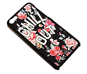 1888998169317 [Global Case] Chill Out Chill Out Relaxation Lay Back and Relax Don't worry be happy Flower Roses Floral Blossom Tribal Aztec Zen Classic Garder son calme (BLACK CASE) Snap-on Cover Shell for VIVO X3L