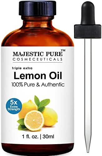 Majestic Pure Lemon Essential Oil, 5x Extra Strength, 1 Fluid Ounce