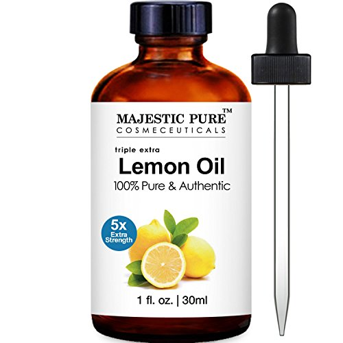 Majestic Pure Lemon Essential Oil, 5x Extra Strength, 1 Fluid Ounce