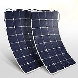 BougeRV 2PCS 100W 18V 12V Solar Panel Charger ETFE SunPower...