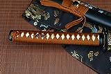 Handmade katana T10 High Carbon Steel Clay Tempered