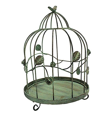Essential Décor Entrada Collection Metal Bird Cage, 15 by 10.5 by 10.5-Inch