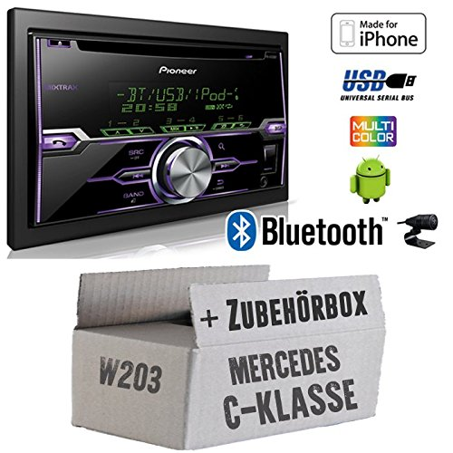 Mercedes C-Klasse W203 - Radio Pioneer FH-X720BT USB Bluetooth CD Autoradio Android iPod/iPhone-Direktsteuerung - Einbauset JUST SOUND best choice for caraudio MBW203_FH-X720BT