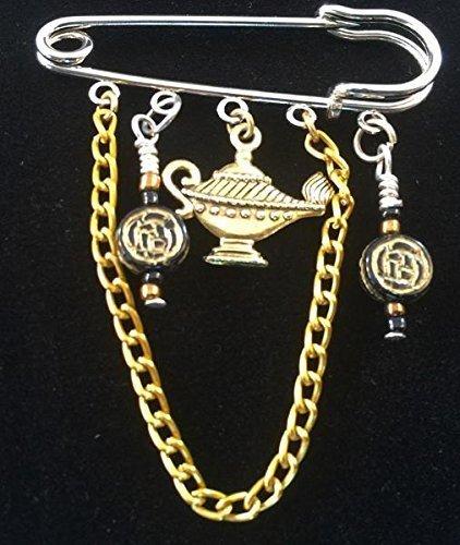 Genie Lamp Celtic Kilt Pin Scarf Brooch (Dream Genie Child Costume)