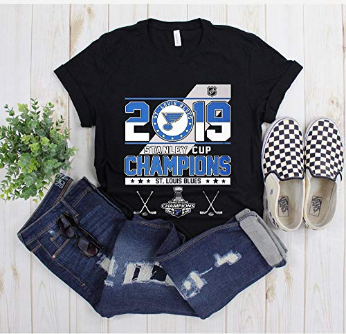 Stanley St-Louis Cup Blues Champions 2019 T-Shirt, Best Tee For Fans, Finaly Shirt Stanley Cup Champions 2019 Saint Louis STL Hockey Gloria