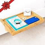 BedShelfie – 3 Colors, Original Bamboo Bedside Shelf, Bunk Bed Shelf, for Dorms, Lofts Beds, Headboards & Small Bedrooms (in Natural Bamboo)
