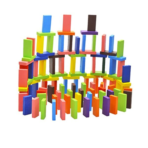 Children Best Dominoes Wooden Blocks Game